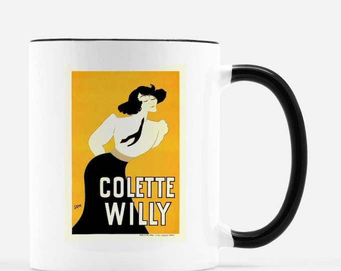 Colette, 11 oz ceramic mug, cup. Poster by SEM, collection of Liza Cowan. Free shipping to continental US