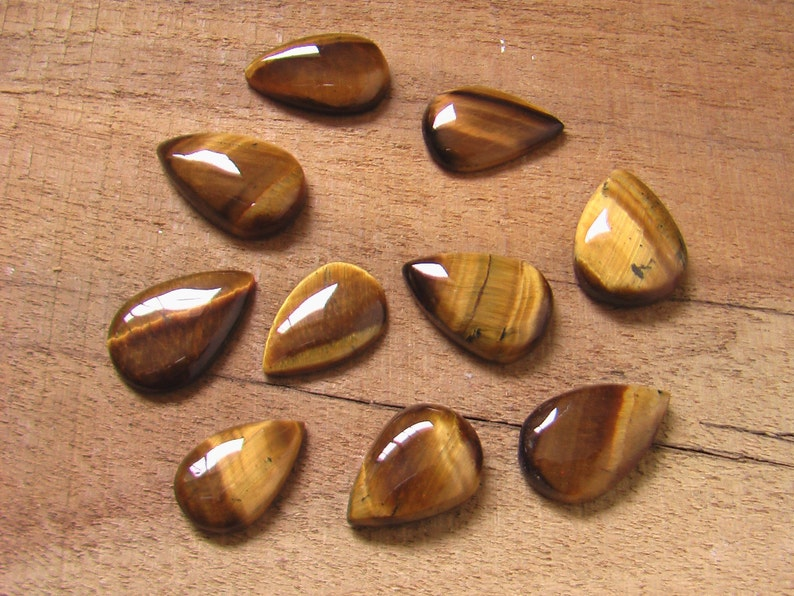 Awesome Yellow Tiger Eye Cabochon Natural Yellow Tiger Eye Gemstone High Quality Tiger Eye Loose Stone For Jewelry