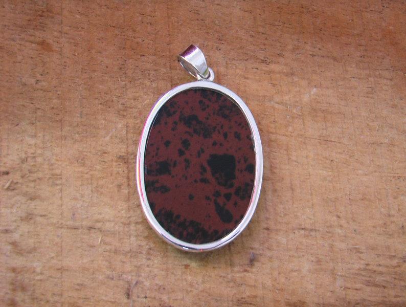 Top Quality Mahogany Obsidian Loose Gemstone Sterling Silver  Pendant Amazing Natural Mahogany Obsidian Cabochon Pendant