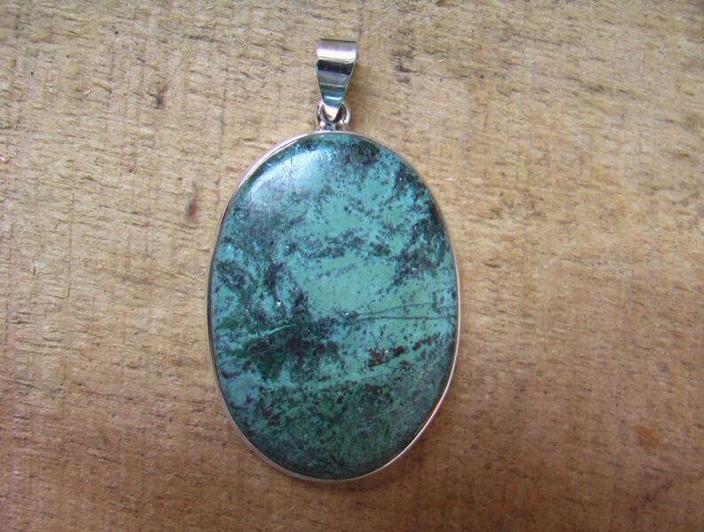 Azurite Pendant  Natural Gemstone Pendant  Azurite Sterling Silver Pendnat  Size-45x30x6 mm  Weight-61.6 ct # No.1