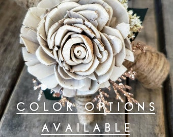 Upgraded Rustic Glam Boutonnière, multiple colors available