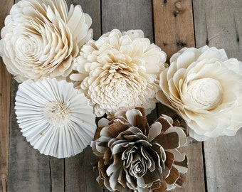 READY TO SHIP XLarge Individual Wood Flower for Wall Decor, Crafting, Sign Decor