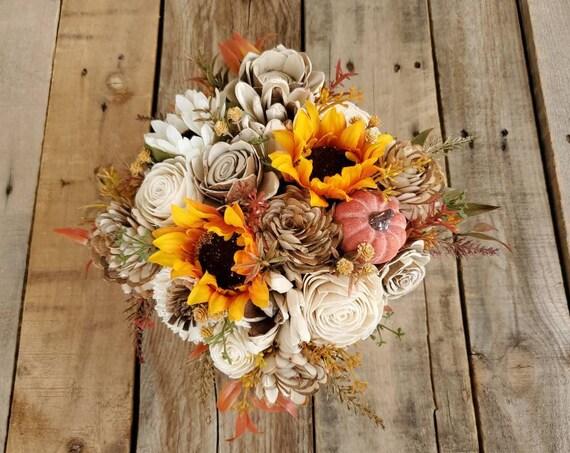 Fall Wood Flower Centerpiece Box