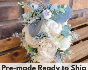 Sola Wood Flowers Wood Flower Decoration Christmas Kissing Ball Flower Ornament Rustic Christmas Flower Girl Bouquet