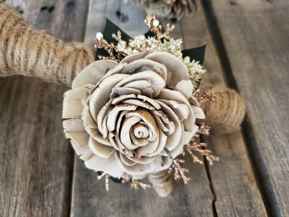 Upgraded Rustic Glam Boutonnière