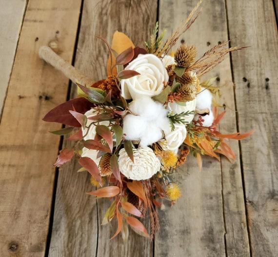 Fall Wood Flower Bouquet