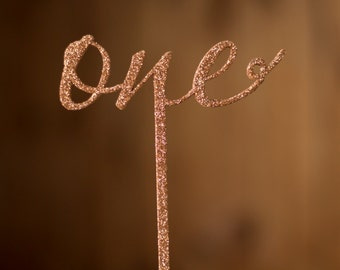 Glitter table number - Table numbers - Freestanding - Numbers for Weddings - Rose gold glitter