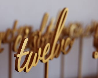 Gold Wedding Numbers - Table numbers-Wedding Numbers-Gold Table Numbers