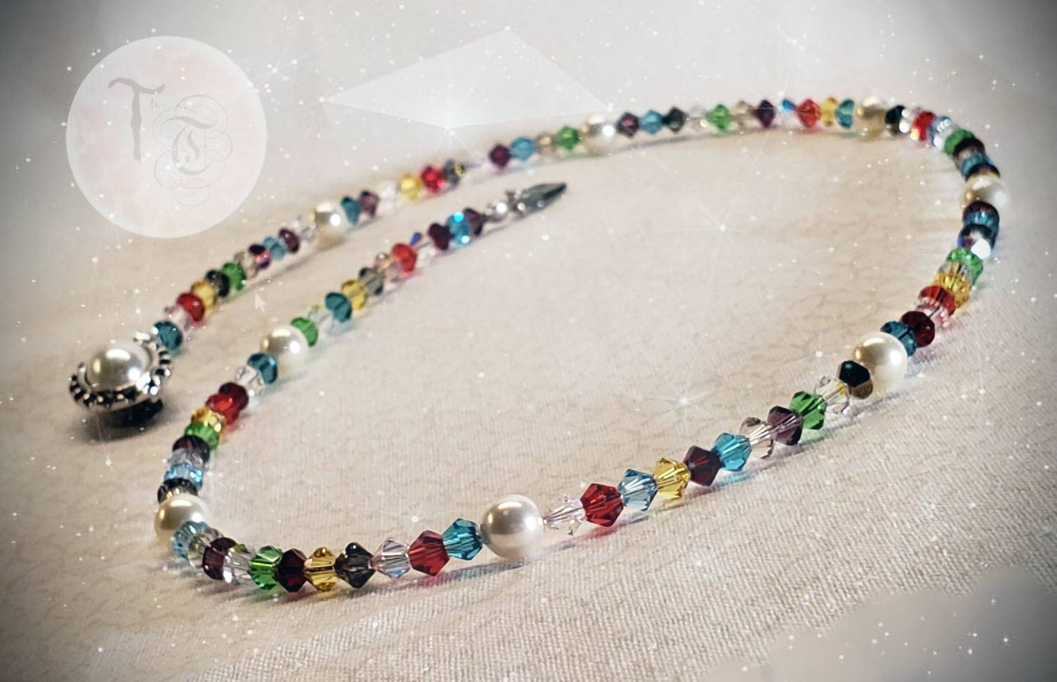 PRICE REDUCED! Swarovski Crystal Necklace Colorful Splash of Shimmering Swarovski  Crystals and Pearls Two Styles Available Gift Idea 1eec57e37