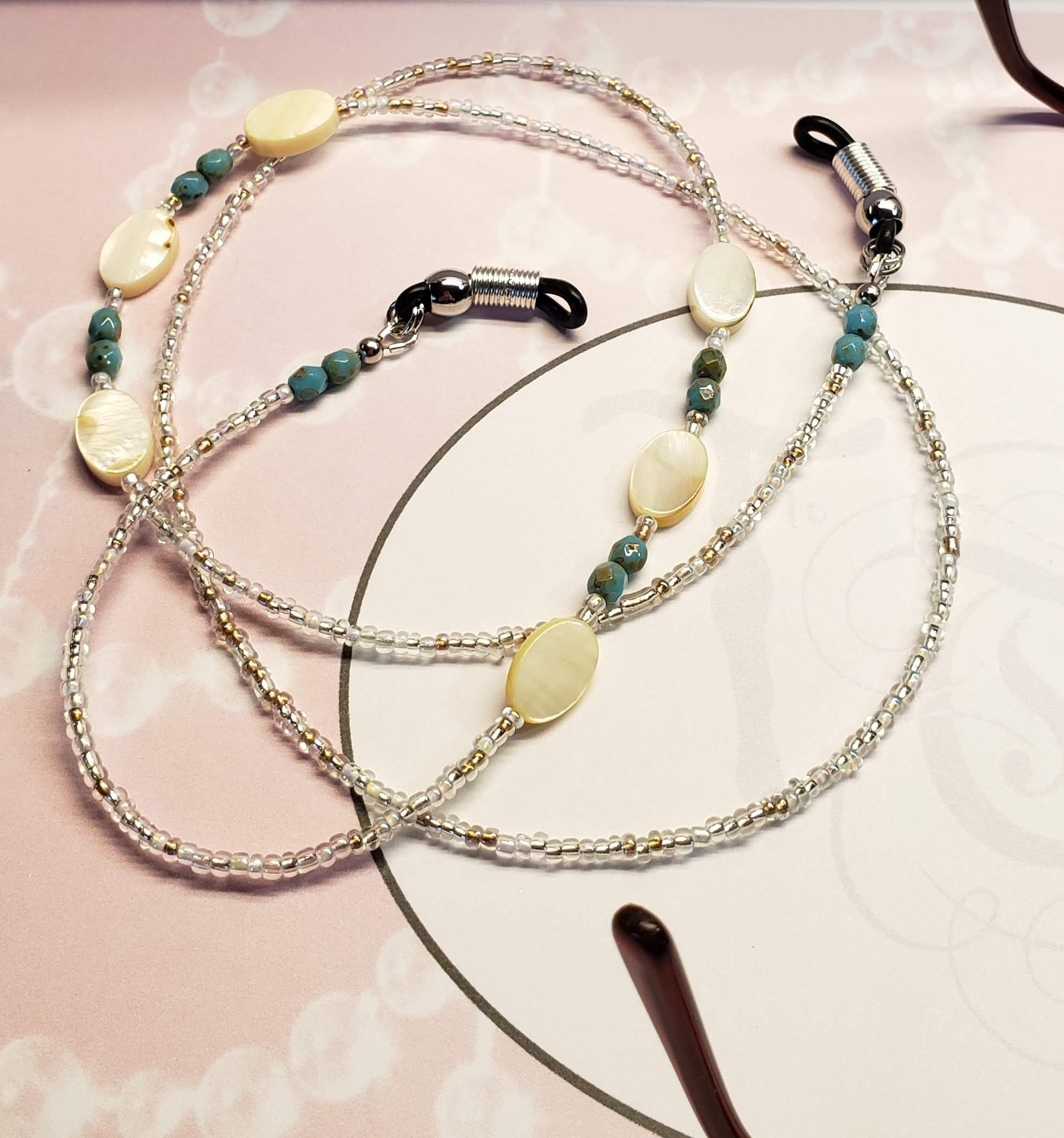4f5d7a05c098 Glasses Lanyard Eyewear Fashion Accessory Eyeglass Chain Eyewear Accessory  Lanyards Eyeglass Holder Customizable Lanyard Mother of Pearl