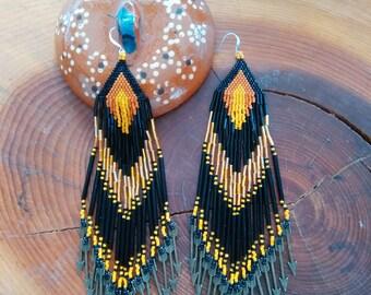 Native American Earrings, Cherokee Made, tsalagi