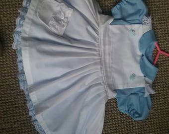 Baby, Girls Handmade Alice In Wonderland Dress With Petticoat,Fancy Dress. Party age 3 Months To 10 Years