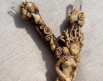 Ocean goddess wand Mermaid wand