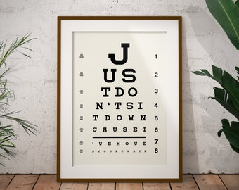 Arctic Monkeys - 'Don't Sit down 'Cause I've Moved Your Chair' Print