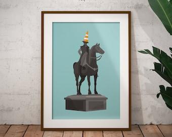 Duke of Wellington Statue Art Print / Glasgow Print