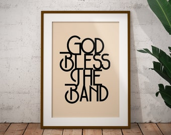The Courteeners - 'Not Nineteen Forever' Print / The Courteeners - 'God Bless The Band' Print