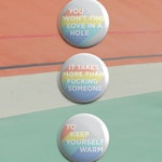 Keep Yourself Warm - Frightened Rabbit Button Badge Set