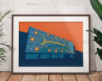 The Barrowland Ballroom Art Print / Barrowlands Art Print / Glasgow Print