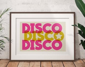 DISCO Art Print / Kitchen Disco Print