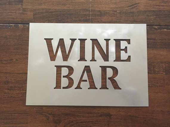 Wine Bar metal sign