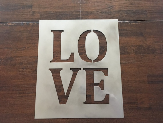 "Love - metal sign 12"" x12"""