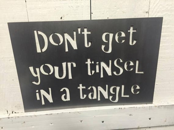 Don't get your tinsel in a tangle