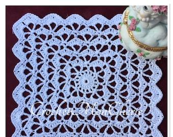 Simply Squared Doily - CrochetMonCherie - Instant download - Crochet PATTERN (pdf file)