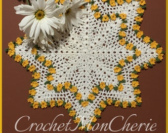 Vintaisy Doily - CrochetMonCherie - Instant download - Crochet PATTERN (pdf file)