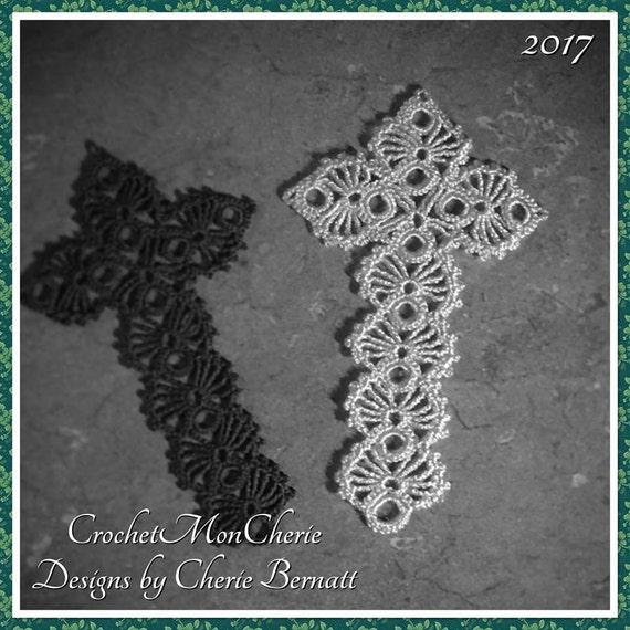 Easter Cross Bookmark Pattern Instant Download Crochet Etsy
