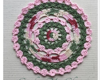 Painted Petals Doily Crochet Pattern - Instant download - Crochet PATTERN (pdf file)