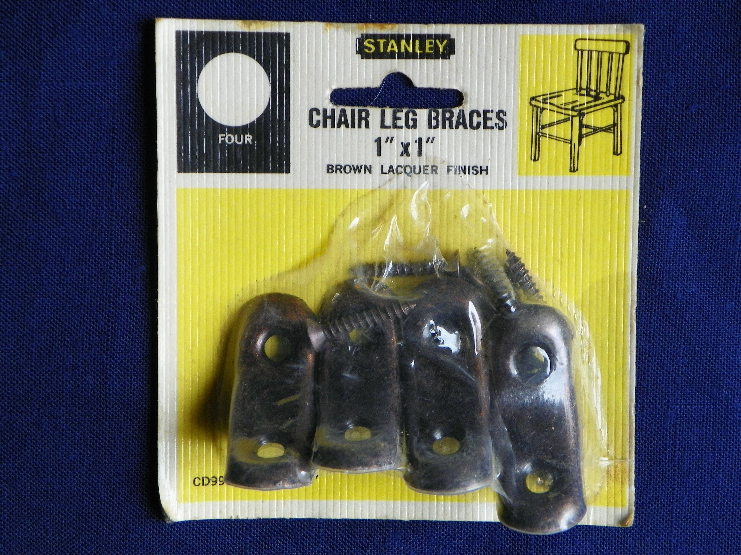 Metal Chair Leg Brackets Or Corner Braces Set Of 8 1 By 1 In Original Unopened Package Free Shipping Stanley Finish Metal Corner Brackets