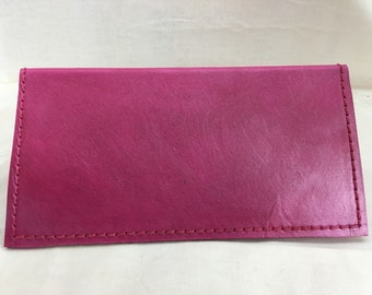 Pink Pearl Leather checkbook cover