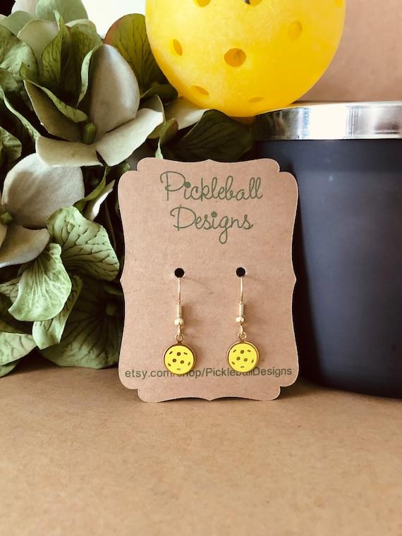 Pickleball Gold Hook Earrings