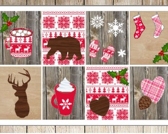 Rustic Christmas Planner Stickers Weekly Kit
