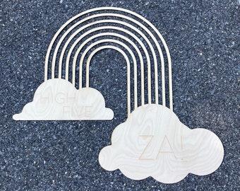 Large Custom Rainbow Wooden Sign / Rainbow Sign / Custom Name Sign / Custom Name Cutout /Name Sign/ Nursery Sign / Kid Room Decor