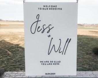 Custom Wedding Welcome Sign //Acrylic Wedding Welcome sign//acrylic wedding sign // Welcome sign // custom wedding decor // Frosted acrylic