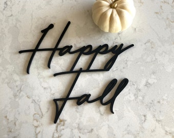 Happy Fall  Sign // autumn decor  // porch decor // welcome Decor //Rustic Wood Sign// Fall decor //pumpkin decor//Home Decor