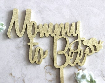 mommy to bee cake topper / gender reveal cake topper / baby shower cake topper / wood acrylic Laser Cut Topper // mommy to bee