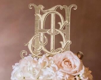 custom monogram cake topper / custom cake topper / custom wedding cake topper / wood acrylic Laser Cut Topper / custom acrylic cake topper