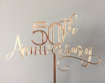 custom happy anniversary cake topper / custom anniversary cake topper / custom cake topper / anniversary cake
