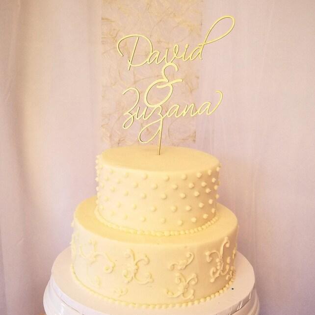 Custom Name Cake Topper // Wedding Cake Topper // Bridal   Etsy