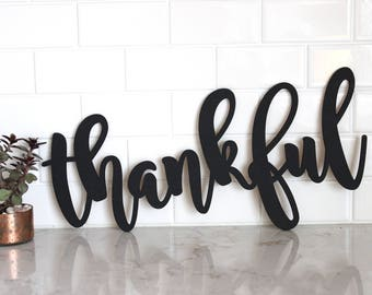 thankful Sign // Wood thankful Sign //fall Decor//Thanksgiving Decor//Rustic Wood Sign//Wood Sign//Wall Hanging//Home Decor // Harvest Decor