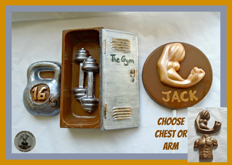 a9d3a622e6b94 Chocolate Gym Gift/Personal Trainer/Gym  Training/Fitness/Muscles/Weights/Mens Edible  Gift/Birthday/Boyfriend/Husband/Son/Brother/Male Friend