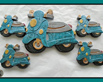 Scooter Chocolate Gift/Motor Scooter/Mods/Italian Scooter/Male/Mens Chocolate/Teen Boy/Boys/Boyfriend/Husband/Dad/Uncle/1960/retro vehicle