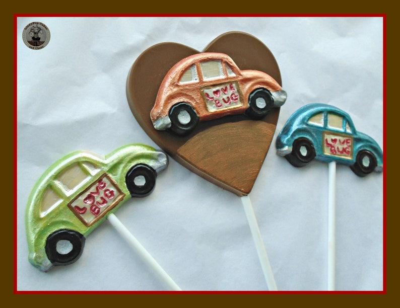 Gift For Him VW Beetle Chocolate Lollipops Love Bug Car