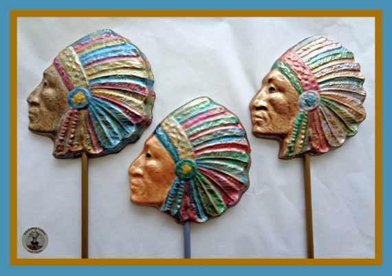 Indian Chief Chocolate Gift Native American Red Mens