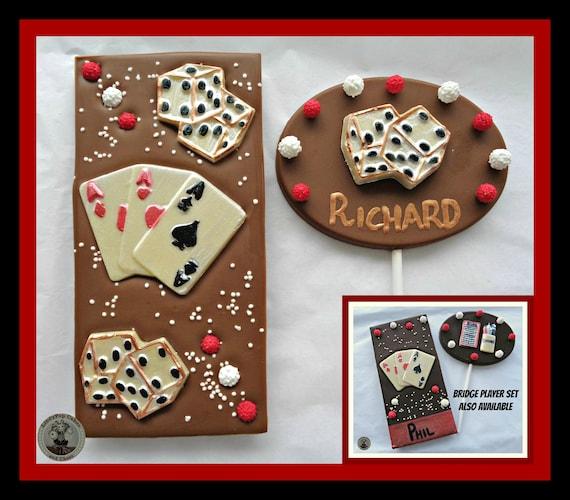 Kaartspeler Cadeauspeelkaarten Chocolade Geschenkbridge Spelermannen Eetbare Giftcard Speler Verjaardagkaart Gameslas Vegaseetbare