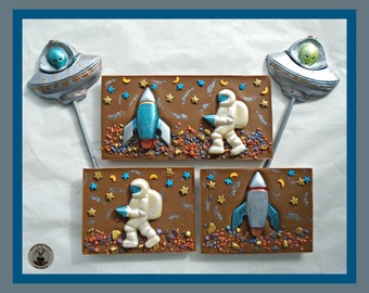 Outer Space Chocolate Gift/Astronaut/Alien/Boys birthday gift/Male/Mens Gift/Space rocket/Space ship/Male Birthday/Space Women/Woman/Girl