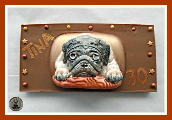 Mops Schokolade Geschenk Mops Besitzer Geschenk Essbaren Etsy