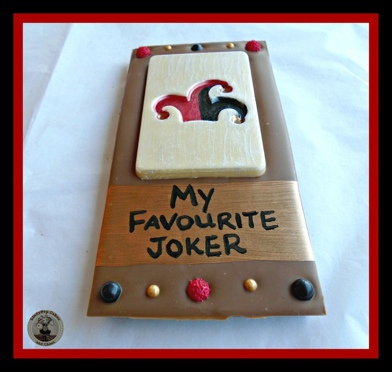 fe877ca38f6cd Joker Chocolate Gift/Fun/Joker/Funny/Comedy/comedian/unusual  chocolate/edible/quirky gift/men/man/male/husband/brother/boyfriend/son/dad